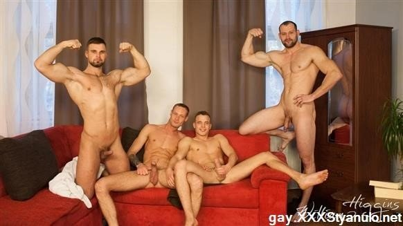 Hugo Antonin, Leo Lombar, Pavel Sora, Roman Baren - Wank Party 105, Part 1 Raw [FullHD]