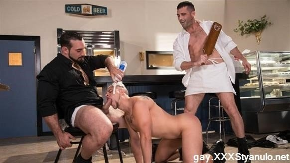 Jaxton Wheeler, Lance Hart, Eli Hunter - Domination Diner, Scene 03 [HD]